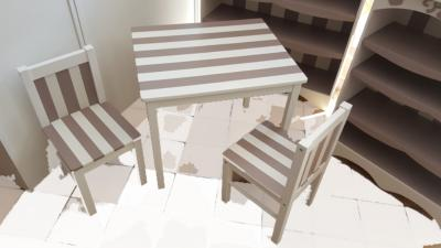 ENSEMBLE TABLE 2 CHAISES ENFANT