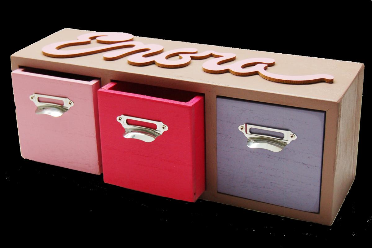 Boîte de rangement avec prénom