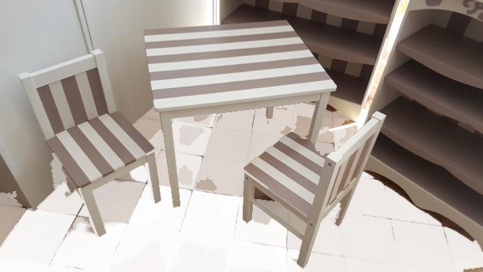 chaise et table enfant personnalis es. Black Bedroom Furniture Sets. Home Design Ideas